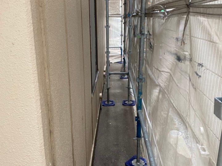埼玉県蕨市 漏水に伴う家屋改修塗装工事 I様邸(施工中)
