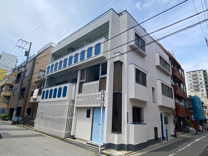 台東区K様所有ビル 傷んだ外壁は徹底補修!生まれ変わった外壁で日々を楽しく!