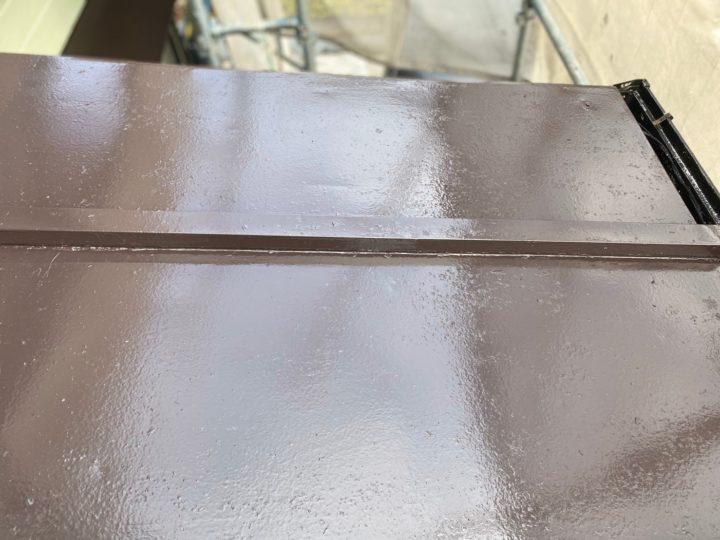 下屋根 中塗り完了