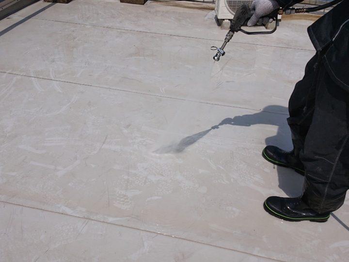 屋上 高圧洗浄