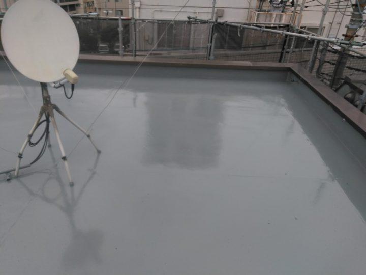 屋上陸屋根 防水工事完了