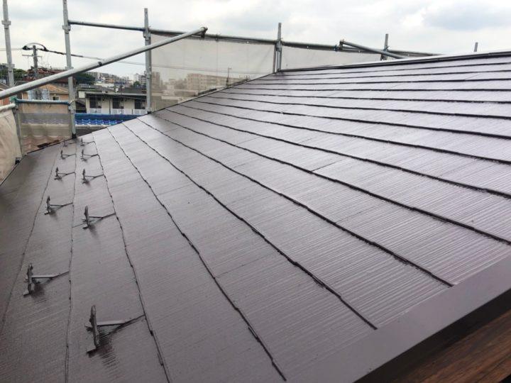 屋根 上塗り完了