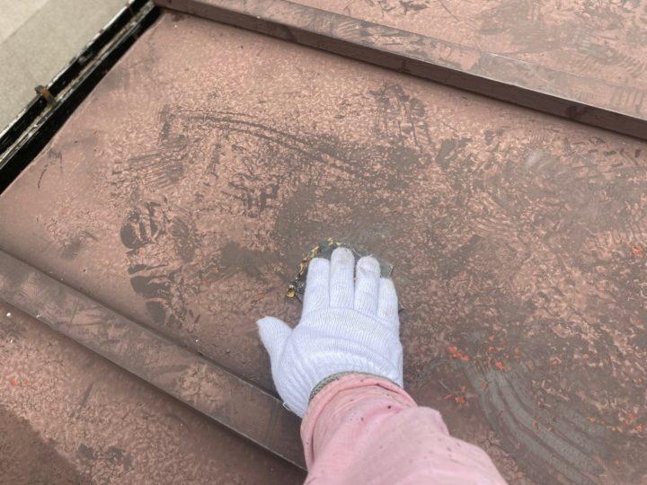 下屋根 ケレン作業