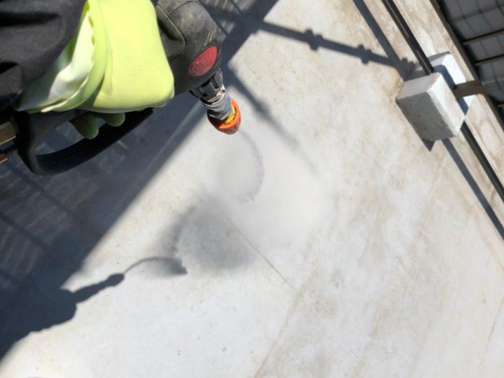 屋上陸屋根 高圧洗浄
