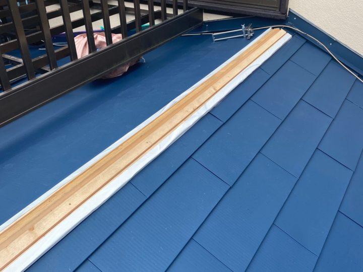 下屋根 葺き替え(GMルーフ220)