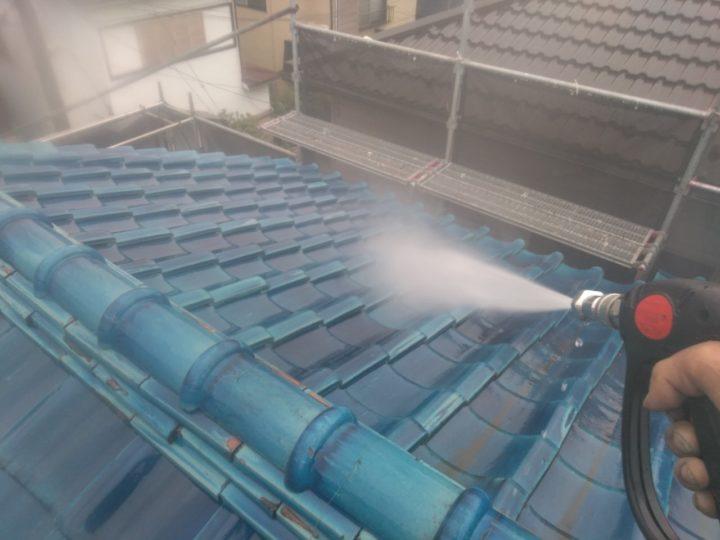 屋根(瓦) 高圧洗浄