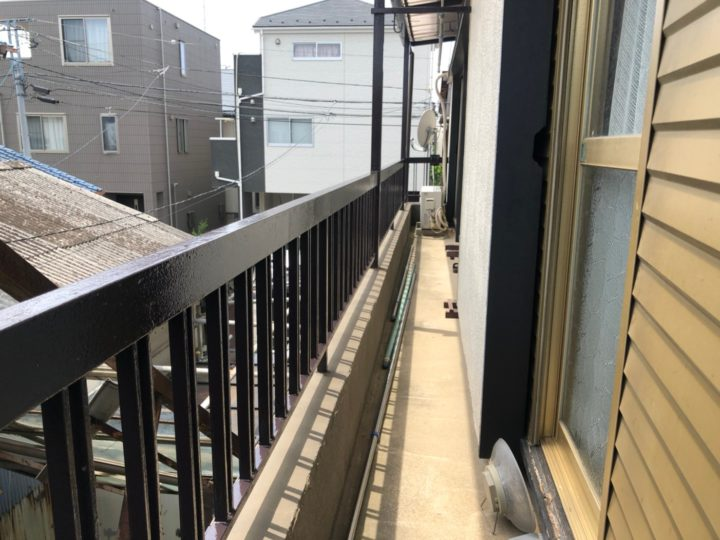 埼玉県さいたま市 バルコニー鋼製手摺及び各所塗装工事 N様邸
