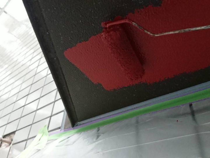 軒天井 錆止め塗布状況