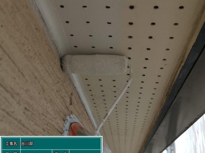軒天井 塗装(1回目)