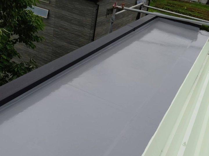 屋上陸屋根 中塗り完了