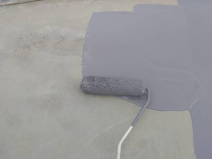 屋上陸屋根 中塗り