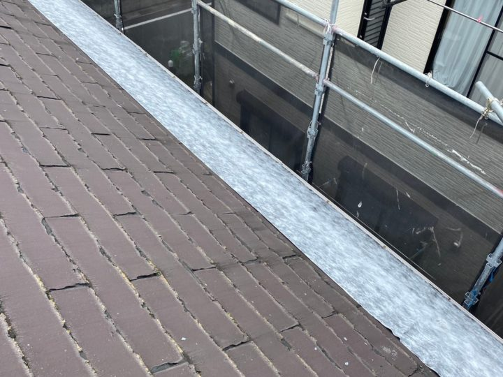 屋根 ルーフィング(防水シート)設置状況
