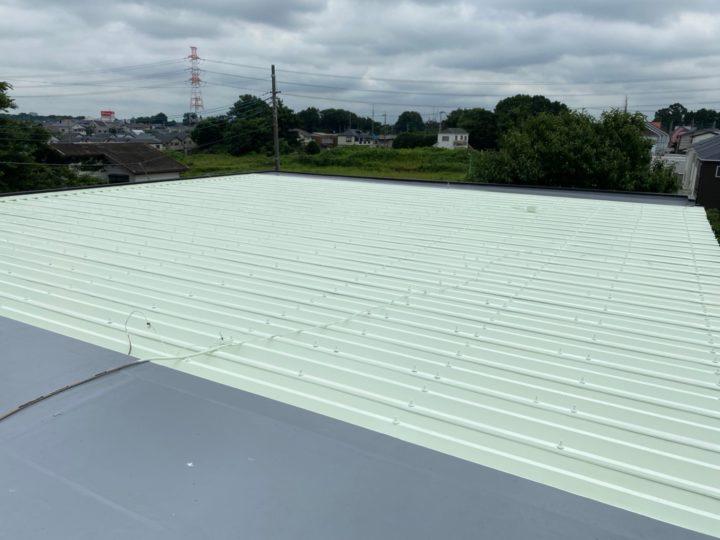 屋上陸屋根 上塗り完了