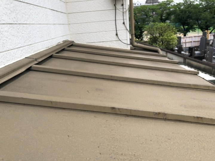 下屋根 施工前