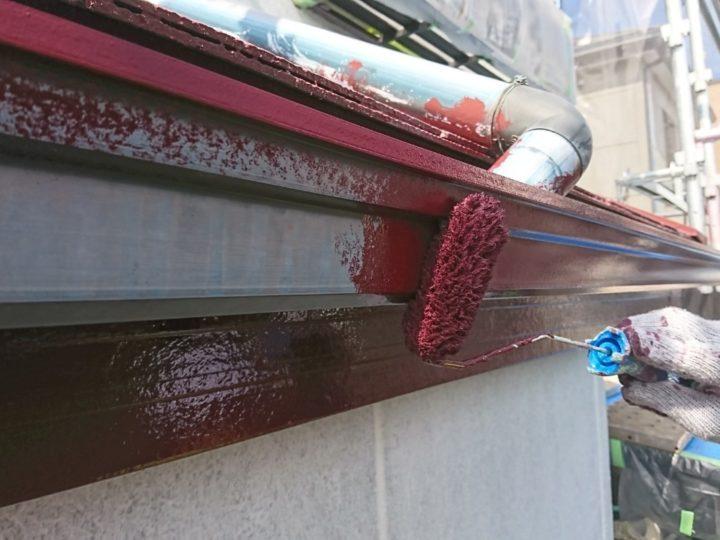 横樋 塗装(1回目)