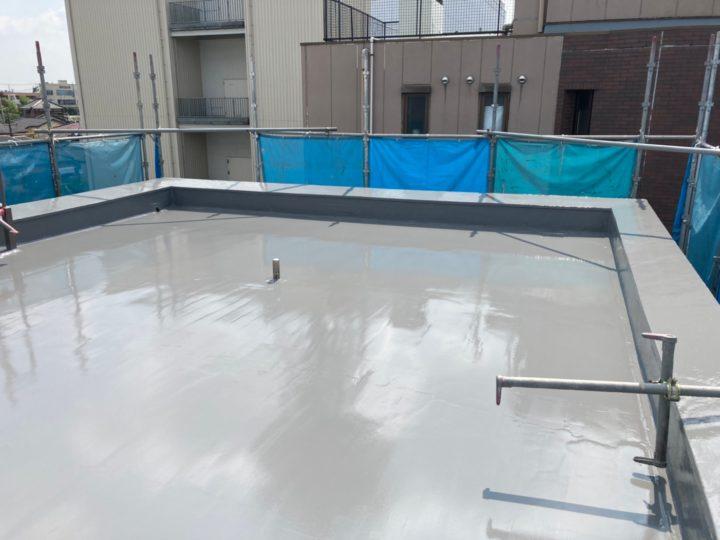 さいたま市K様所有建物 屋上陸屋根もウレタン防水でしっかり施工!