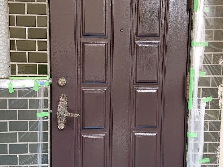 玄関扉 塗装完了