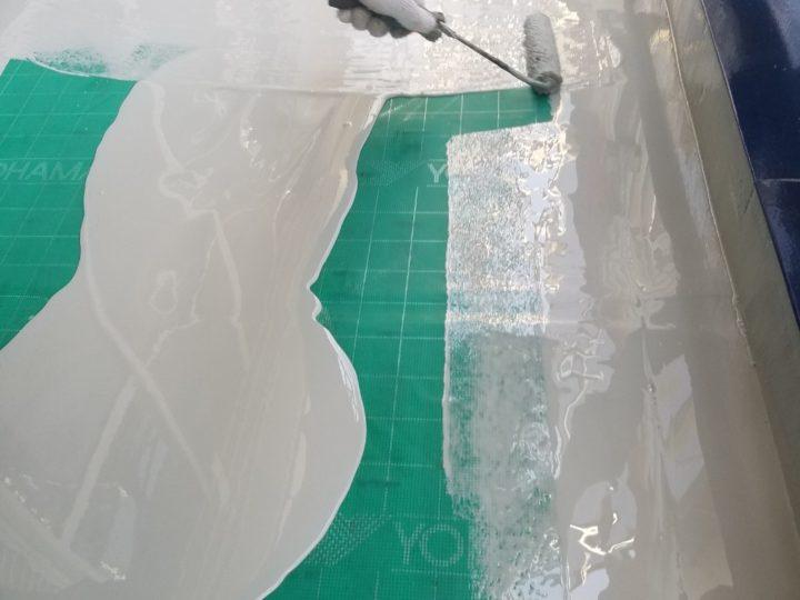 バルコニー 防水ウレタン塗布(1回目)