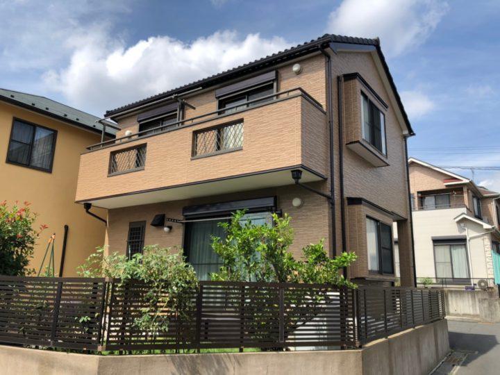 川口市K様邸 クリヤー塗料で質感の残る素敵なお家に!