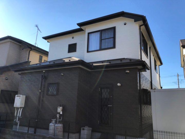 川口市A様邸 ツートンカラーでコントラストの強いお家へ!