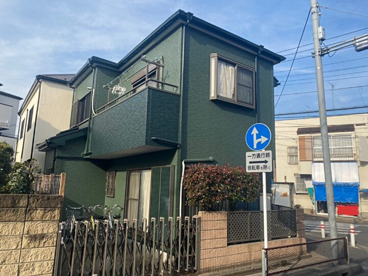 蕨市I様邸 緑が眩しい外壁塗装!