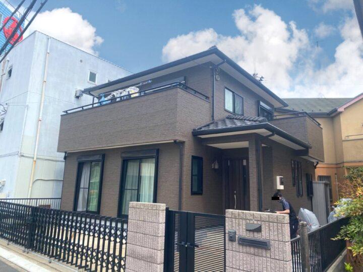 東京都足立区K様邸 クリヤー塗装で豊かな質感!