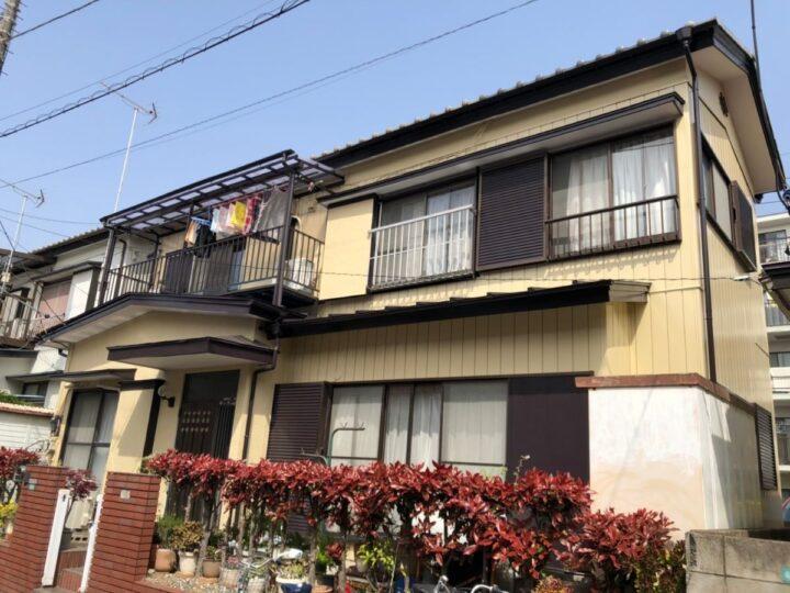 川口市I様邸 すっきり明るい外壁へ!