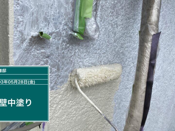 外壁(上部)