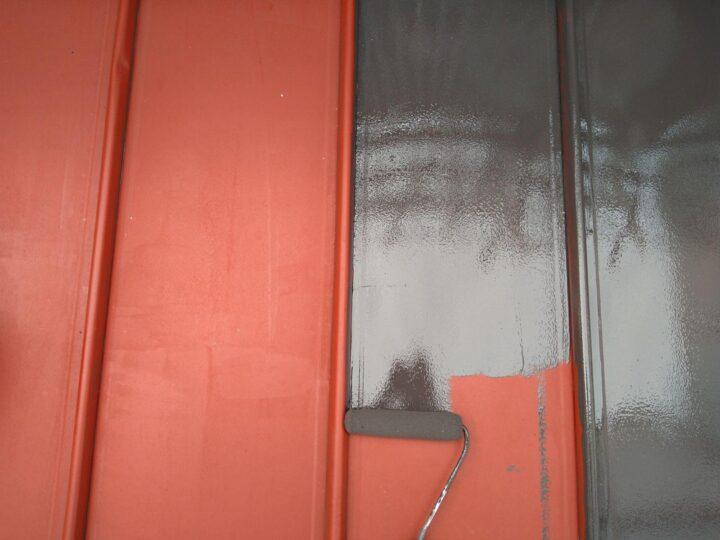 下屋根 中塗り