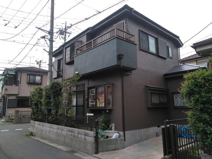 川口市Y様邸 ブラウン×グリーンの素敵な塗装!