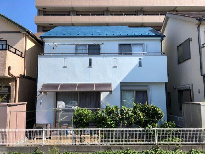 川口市T様邸 鮮やかブルーで明るい彩り!